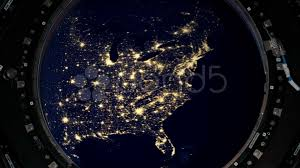 video usa city lights from international space station iss at