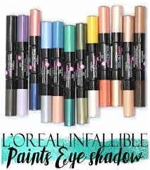 l u0027oreal infallible paints eyeshadow swatches review application