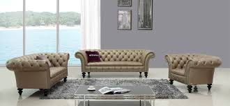 transitional bronze shiny italian leather sofa set