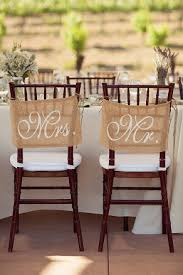 mr and mrs sign for wedding burlap wedding chair signs mr and mrs chair signs wedding