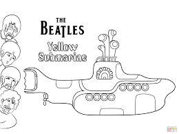 the beatles yellow submarine cover art coloring page free