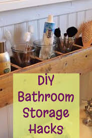 How To Make Storage In A Small Bathroom - diy bathroom storage and organization hacks involvery community blog