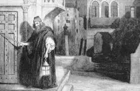 this drawing by charles a buchel of shylock during act ii of the