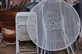 patio furniture black friday mid century folding patio table u0026 chairs vintage metal mesh patio