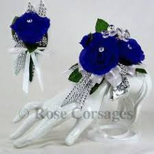 royal blue corsage royal blue silk on royal blue prom corsage