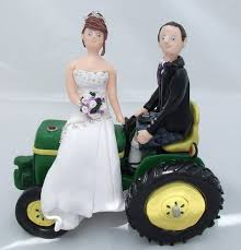 tractor wedding cake topper wedding cake toppers on tractor a a groom and their flickr