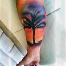 90 sunset tattoos for fading daylight sky designs silhouette