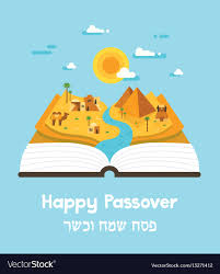 haggadah book passover story haggadah book with landscape vector image