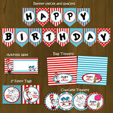 dr seuss party decorations dr seuss printable birthday party decorations package splashbox