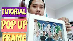 tutorial membuat scrapbook digital tutorial diy how to make cara membuat pop up frame 3d youtube