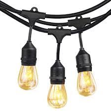 commercial outdoor string lights shine hai 48ft 24 hanging sockets outdoor string lights with 11s14