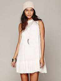 new free people dusk till dawn embroidered ivory blue mini dress