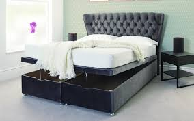 Divan Or Bed Frame Ottoman End Lift Storage Divan Bed Base The Headboard Store