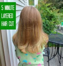 cutting hair upside down my easy diy 5 minute layered haircut practical stewardship