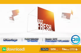 3d box logo videohive template free download free after