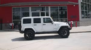 jeep matte black fuel hostage rims in a 2012 jeep wrangler unlimited street dreams