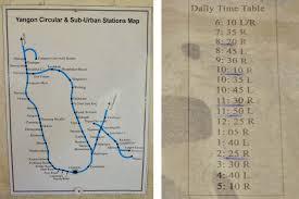 R Train Map All Around Myanmar U0027s Former Capital On The Yangon Circle Line