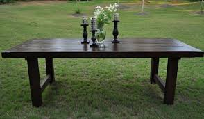 Dark Wood Dining Room Table Rustic Trades Dining Tables Eclectic Dining Room Atlanta