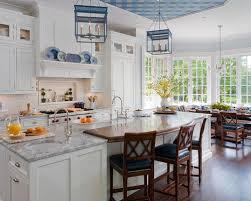 Blue And White Kitchen Cabinets White Blue Kitchen Houzz