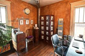 Orange And Brown Home Decor Trend 25 Vibrant Home Offices With Bold Orange Brilliance