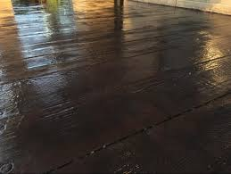 Wood Grain Stamped Concrete by Details