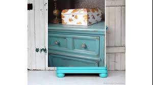 bedroom rustic turquoise nightstand with triple drawers with