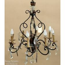 Vintage Wrought Iron Chandeliers Wrought Iron Crystal Chandelier The Aquaria