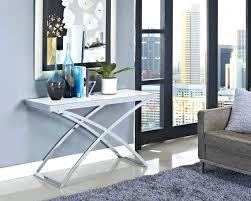 allure modern glass top arch legged sofa table contemporary black