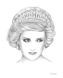 23 best drawings of princess diana images on pinterest lady
