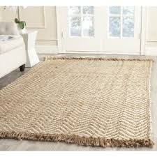 Off White Rug Safavieh Natural Fiber Hand Woven Chevron Off White Natural Brown