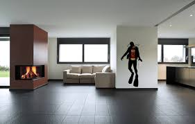wall vinyl fire scuba diver wall decals for office wall decoration