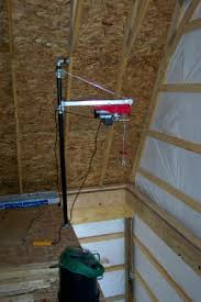 simple hoist for upstairs downstairs loads the garage journal