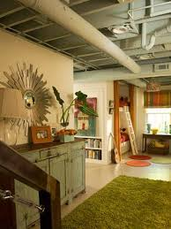 inspirational design ideas exposed basement ceiling nicely