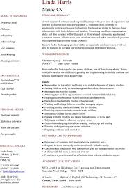 nanny resume template personal training resume skill personal