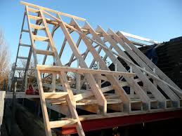 Prefabricated Roof Trusses Mersea Essex 1st Fix A Truss Roof With Gable Ladder In Fill