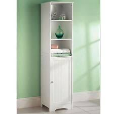 White Tall Bathroom Cabinet by Bathroom Tall Cabinets Ebay