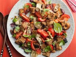 giada u0027s artichoke and tomato panzanella u2014 meatless monday fn