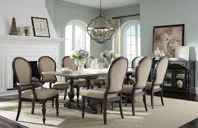 cambria black and dark toffee trestle dining table from standard