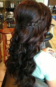 medium length hairstyles from the back wedding hairstyles ideas side ponytail curly half up hairstyles