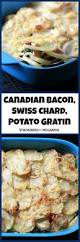 canadian thanksgiving food ideas canadian bacon swiss chard and potato gratin