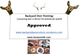 backyard deer hunting inexpensive food from the outdoors page 37