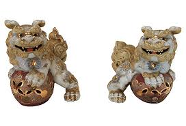 pictures of foo dogs 19th c japanese foo dogs pair modern vintage mix