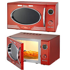 mikrowelle retro design classico mikrowelle rot grill im retro design