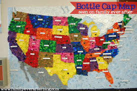 Kids Map Of The United States by Family Ever After Upcycled Bottle Cap Map Of Usa