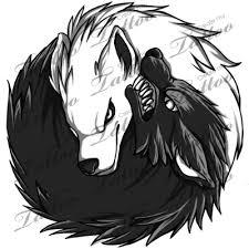 marketplace yin yang wolves 5357 createmytattoo com