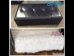 Diy Reupholster Ottoman by Diy How To Reupholster An Ottoman Youtube