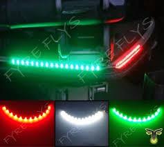 12 Volt Light Fixtures For Boats by Amazon Com 3x Boat Kayak Navigation Lights Led Lighting Red