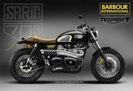 triumph motocross bike triumph and barbour create cool custom scrambler morebikes