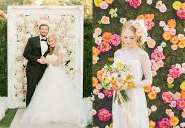 wedding backdrop flower wall our top 7 ways to include flowers in your wedding decor