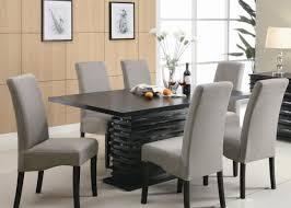 metal and leather dining chairs dining room pleasant 4 seater dining room table and chairs